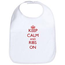 Keep Calm and Ribs ON Bib