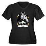 Nash Family Crest Women's Plus Size V-Neck Dark T-