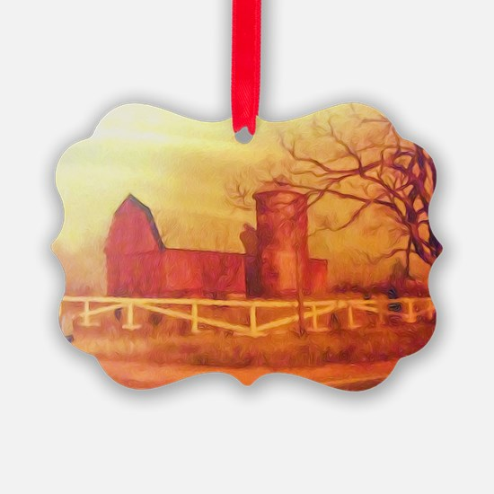 Midwest Barn Painting Ornament