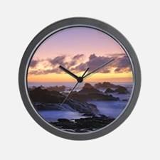 Seascape in Azores Wall Clock
