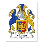 Mytton Family Crest Small Poster