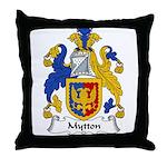 Mytton Family Crest Throw Pillow