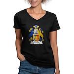 Mytton Family Crest Women's V-Neck Dark T-Shirt