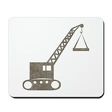 Vintage crane Mousepad