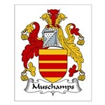 Muschamps Family Crest Small Poster