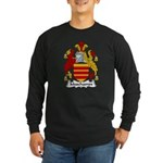 Muschamps Family Crest Long Sleeve Dark T-Shirt