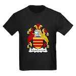 Muschamps Family Crest Kids Dark T-Shirt