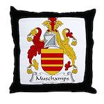Muschamps Family Crest Throw Pillow