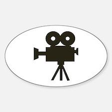 Videocamera Oval Bumper Stickers