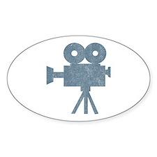 Vintage Videocamera Oval Decal