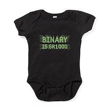 Binary is Great (GR8) Baby Bodysuit