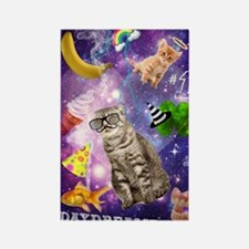 Funny Galaxy Cat Daydreamer Rectangle Magnet