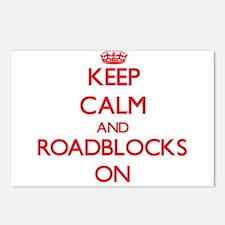 Keep Calm and Roadblocks Postcards (Package of 8)