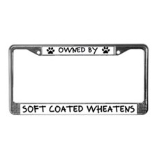 Owned by Soft Coated Wheatens License Plate Frame