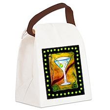 Cute Martini Canvas Lunch Bag