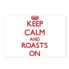 Keep Calm and Roasts ON Postcards (Package of 8)