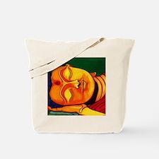 Resting his eyes Tote Bag