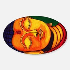 Resting his eyes Sticker (Oval)