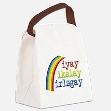 I Like Girls Canvas Lunch Bag