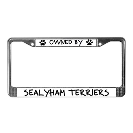Owned by Sealyham Terriers License Plate Frame