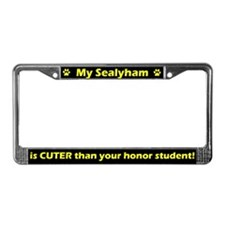 Honor Student Sealyham License Plate Frame