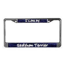 Funky Love Sealyham Terrier License Plate Frame