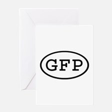 GFP Oval Greeting Card