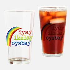 I Like Boys Drinking Glass