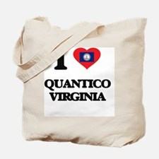 I love Quantico Virginia Tote Bag
