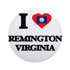 I love Remington Virginia Ornament (Round)
