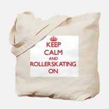 Keep Calm and Rollerskating ON Tote Bag