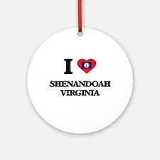 I love Shenandoah Virginia Ornament (Round)