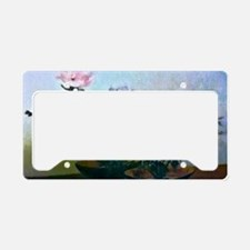 Two Flower Bowls Painting License Plate Holder