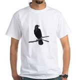 Crow Mens White T-shirts