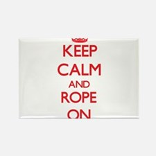 Keep Calm and Rope ON Magnets