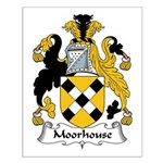 Moorhouse Family Crest Small Poster