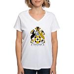Moorhouse Family Crest  Women's V-Neck T-Shirt