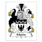 Moone Family Crest Small Poster