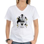 Moone Family Crest  Women's V-Neck T-Shirt