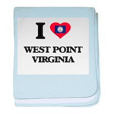 I love West Point Virginia baby blanket