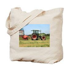 Tractor at work on El Camino, Spain 2 Tote Bag