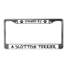 Owned by a Scottish Terrier License Plate Frame