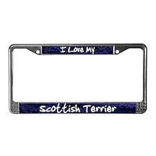 Funky Love Scottish Terrier License Plate Frame