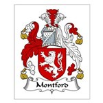 Montford Family Crest Small Poster