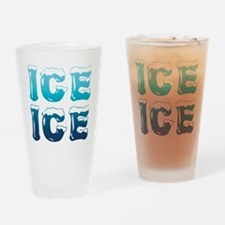 Ice Ice Maternity Design Drinking Glass