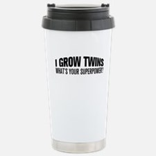 I Grow Twins, What's Your Superpower Travel Mug