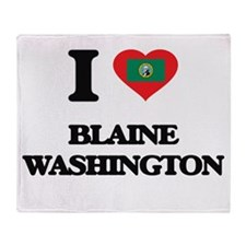 I love Blaine Washington Throw Blanket