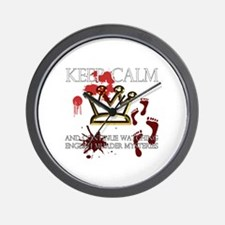 Keep Calm Mystery Crown Wall Clock