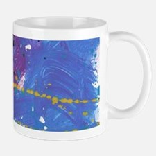 Blue Pollock-Style Mugs