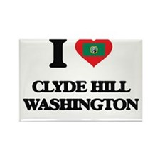 I love Clyde Hill Washington Magnets
